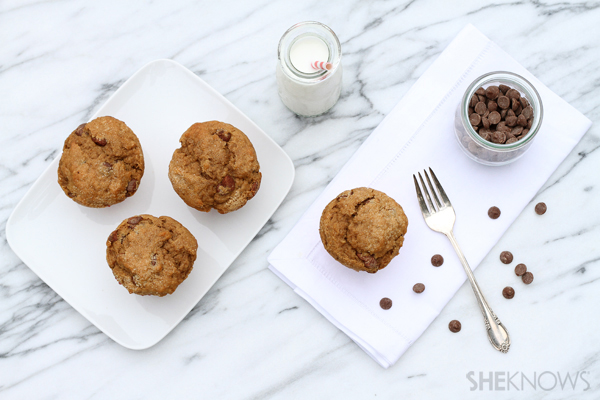 Cappucino muffins with chocolate chunks