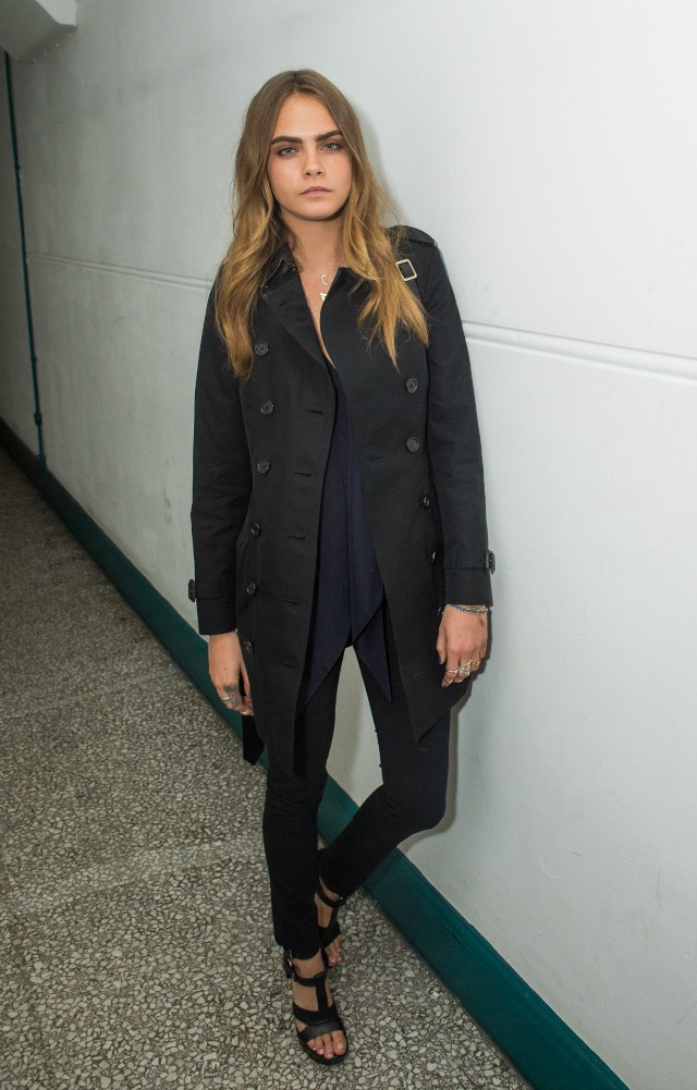 Cara Delevingne at London Fashion Week AW15