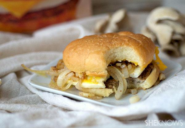 Truffled mushroom, onion and garlic sandwiches