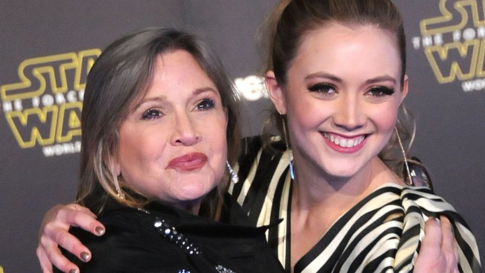Carrie Fisher and Billie Lourd attend