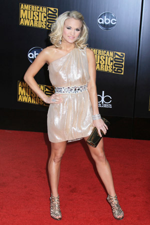 Carrie Underwood at the 2010 American Music Awards