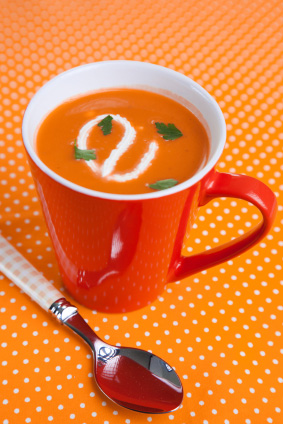 Sweet and Savory Butternut Squash and Carrot Soup