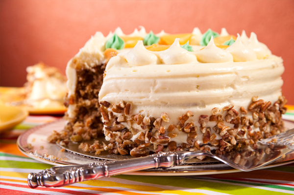 Organic Carrot Cake with Cream Cheese Frosting