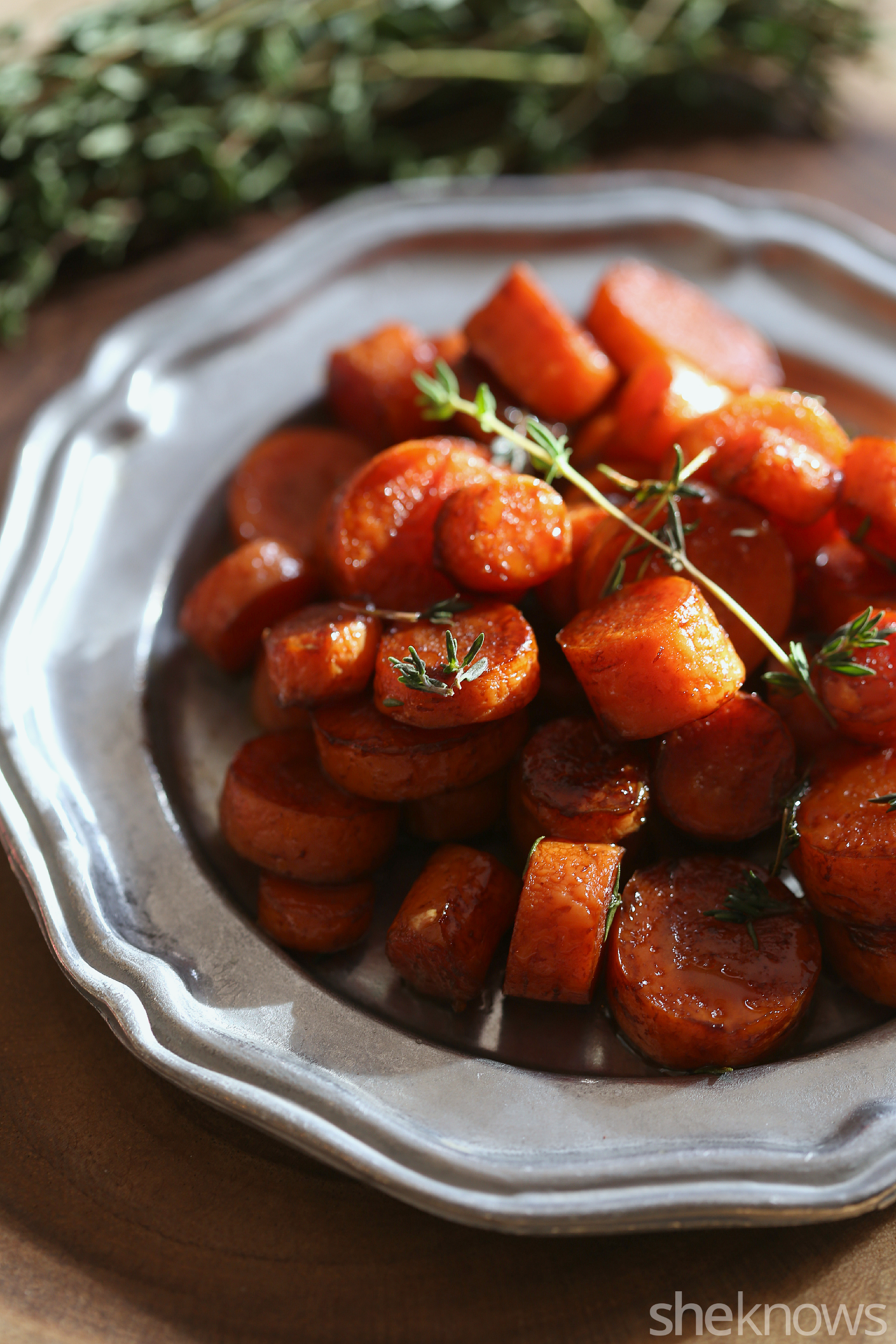 roasted carrots with balsamic and thyme