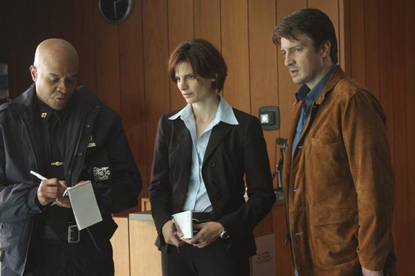 Castle always has his partner close by