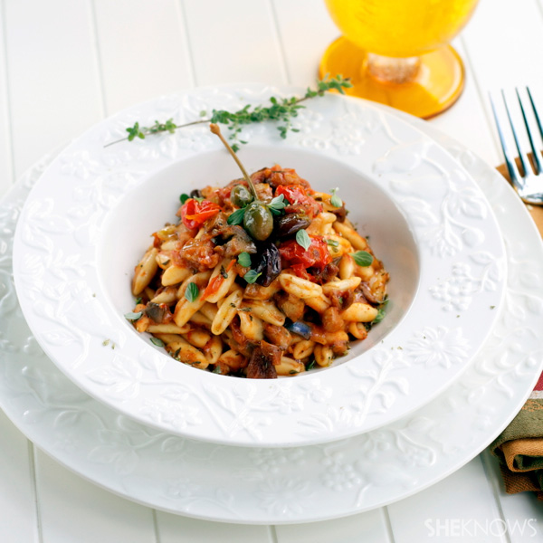 cavatelli with figs, eggplant and tomatoes