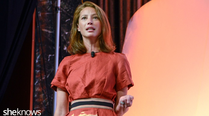 Christy Turlington speaks with at Blogher15