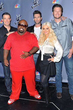 CeeLoo Green and Christina Aguilera confirmed for The Voice season 5