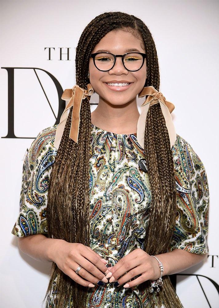 Celebs in Hair Ribbons: Storm Reid