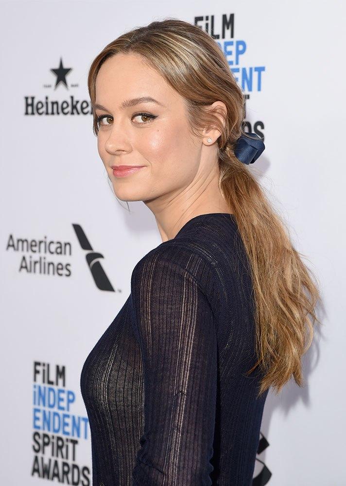 Celebs in Hair Ribbons: Brie Larson