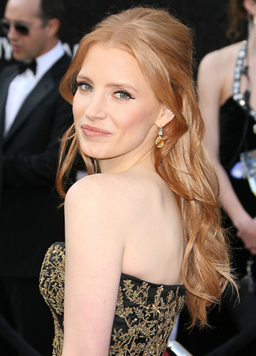 Oscars hairstyle -- Jessica Chastain