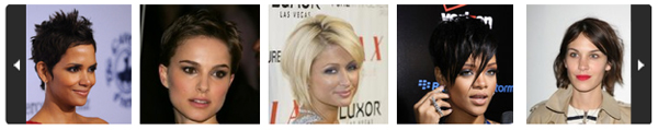 Celebrity short hair gallery