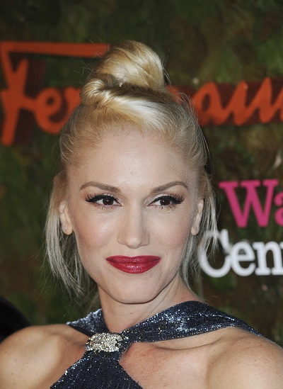 Gwen Stefani's knotted hairstyle