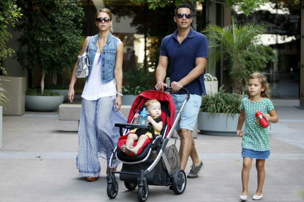 Jessica Alba with husband Cash and daughters Honor and Haven