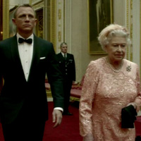 Queen of England and James Bond