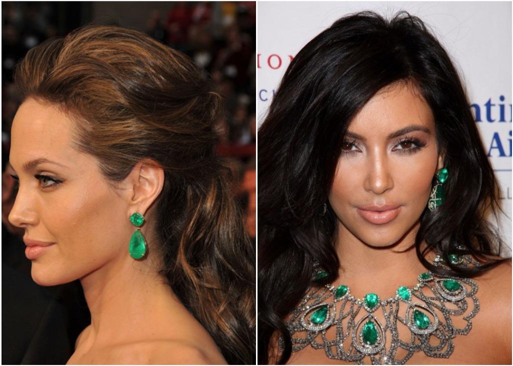 angelina jolie kim kardashian emerald
