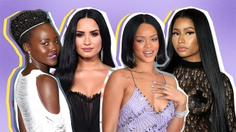 Celebrities with Black Hair