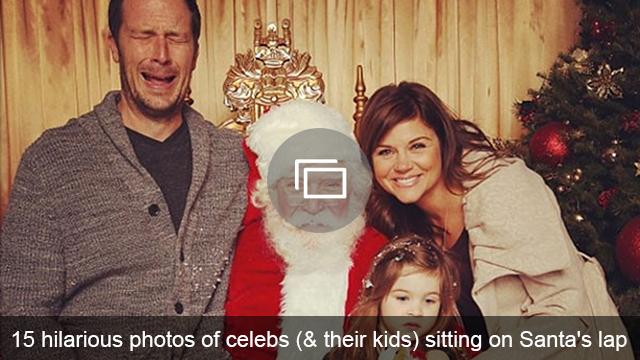 celebs and santa slideshow