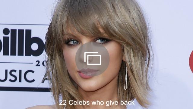 Celebs who give back slideshow