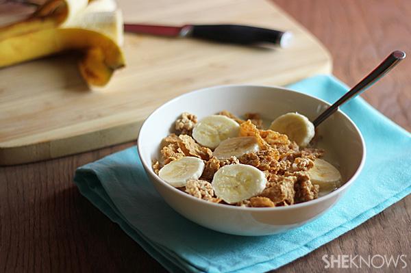 Cereal, Milk & Fruit