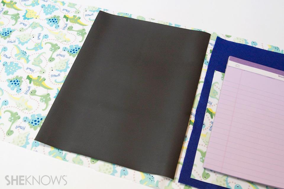 DIY Chalkboard lap mat for kids