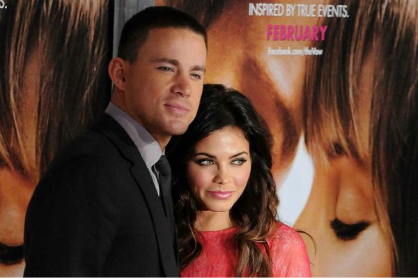 Channing Tatum and Jenna Dewan at Movie Premiere