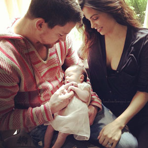 Channing Tatum, Jenna Dewan-Tatum and baby Everly