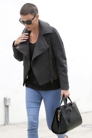 Charlize Theron with short haircut