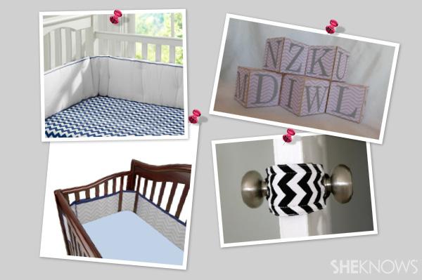 Chevron decor for a baby's nursery | SheKnows.com