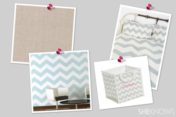 Subtle chevron decor for a kid's room | SheKnows.com