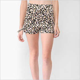 High-Rise Leopard Print Shorts from Forever 21