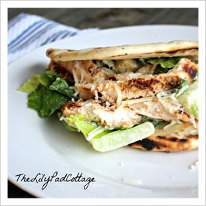 Chili's Guiltless Grilled Chicken Caesar Pita