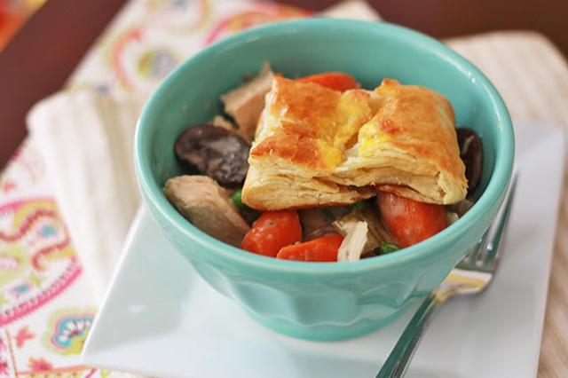 chicken and mushroom crock pot pie