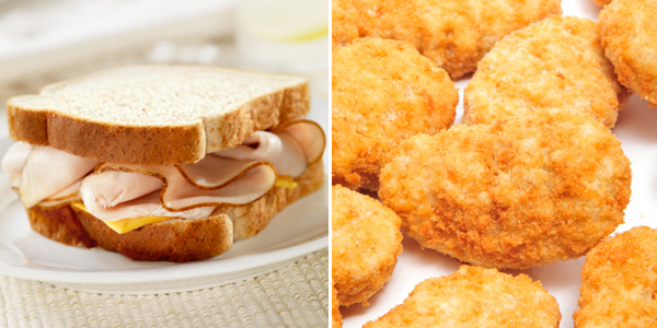 Chicken Nuggets vs Turkey Sandwich