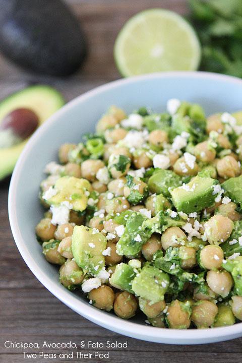 chickpea salad avocado