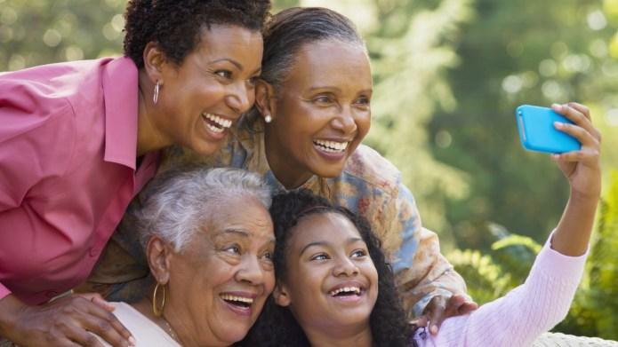 Four generations of Black women taking