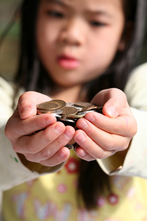 Child with Coins