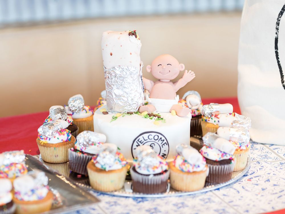 Chipotle baby shower cake