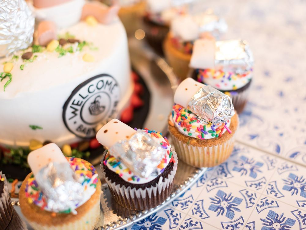 Chipotle baby shower cupcakes