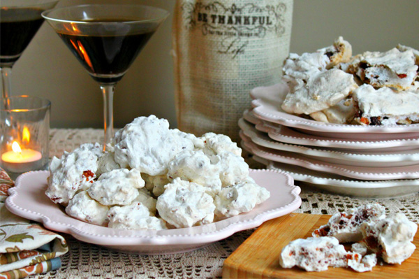 Chocolate chip and bacon meringues