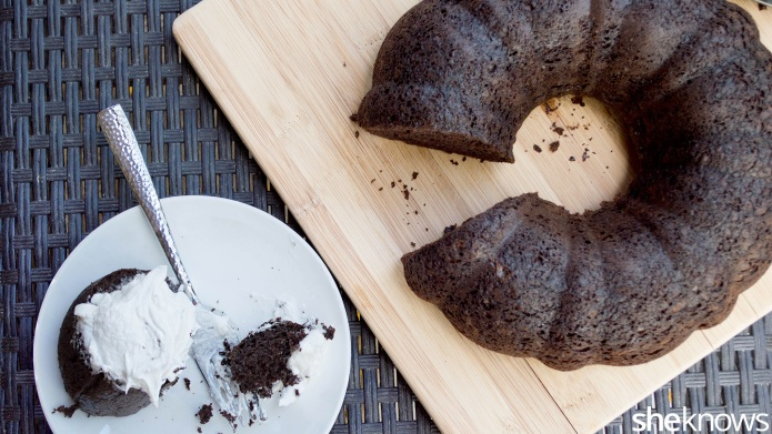 Chocolate-sour cream Bundt cake is a