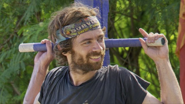 Christian Hubicki competes in Immunity challenge