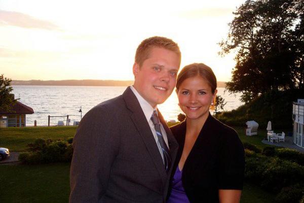 Christina with husband