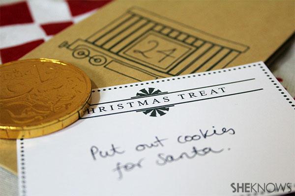 DIY Christmas Express advent calendar | Sheknows.com.au - first step