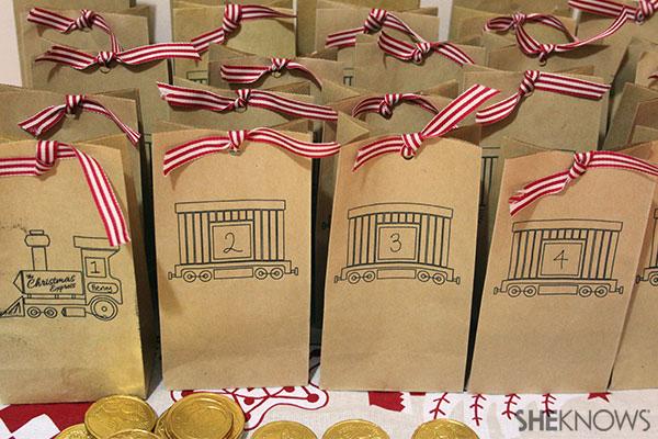 DIY Christmas Express advent calendar | Sheknows.com.au - final result