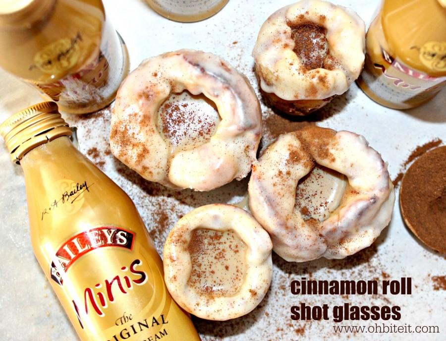 Cinnamon roll shot glasses