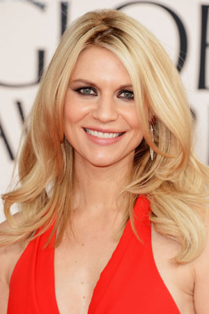 Claire Danes' makeup at the Golden Globes