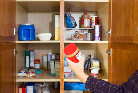Cleaning food pantry