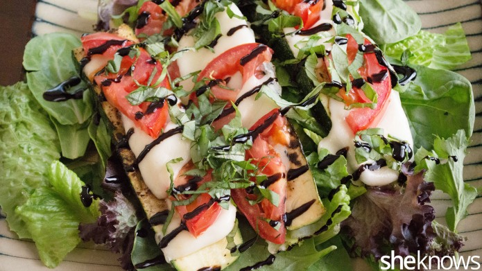 Grilled zucchini caprese captures summer in