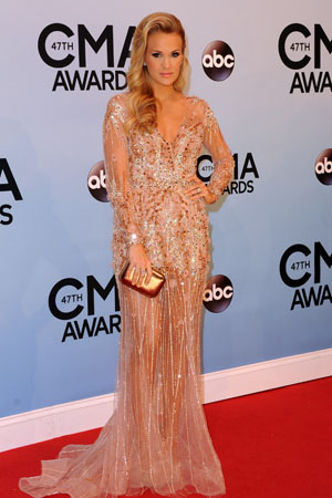 Carrie Underwood at the 2013 CMAs